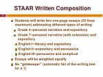 staar written composition