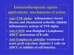 immunotherapeutic agents applications mechanisms of action