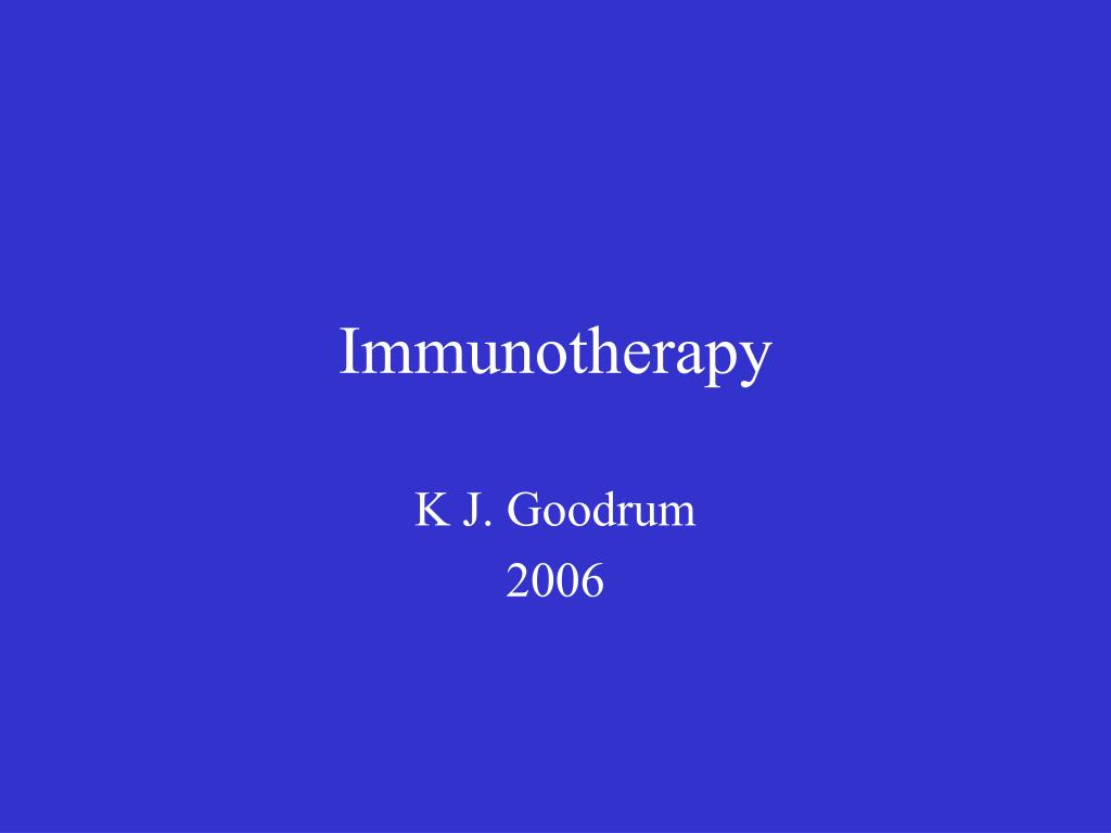 immunotherapy l.
