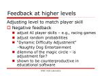 feedback at higher levels