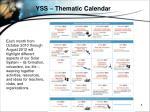 yss thematic calendar