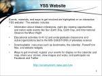 yss website