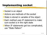 implementing socket