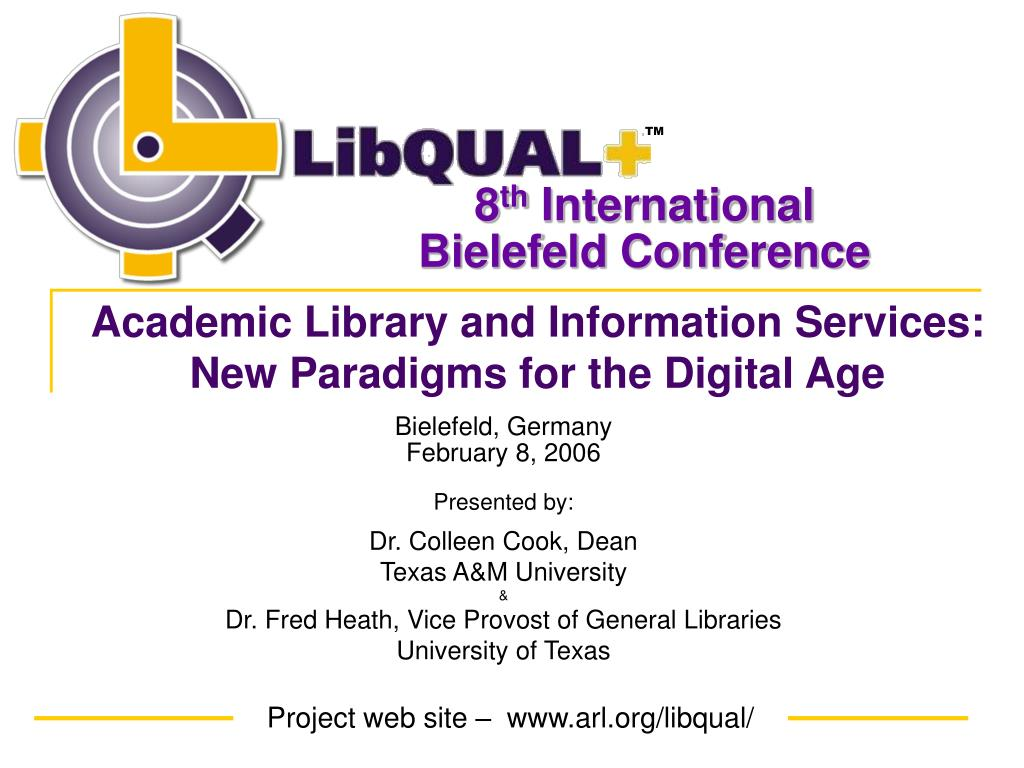 academic library and information services new paradigms for the digital age l.