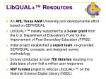 libqual resources