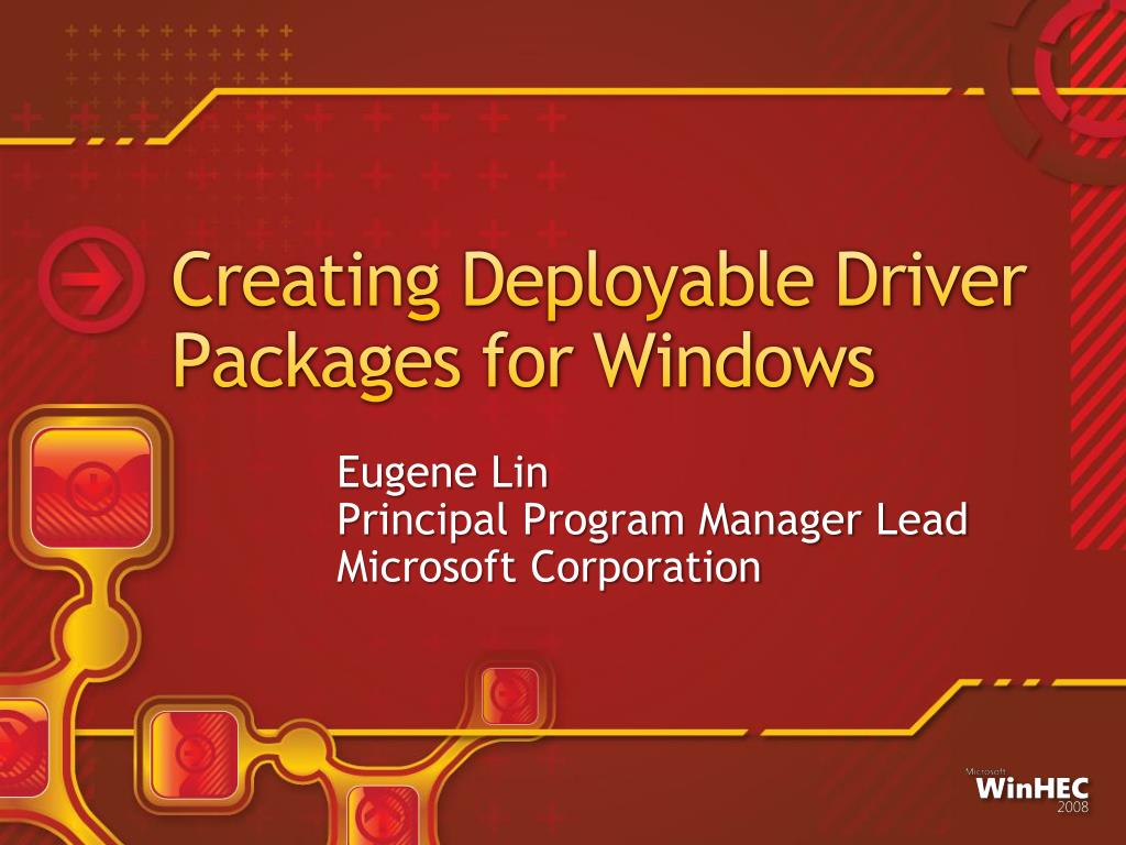 creating deployable driver packages for windows l.