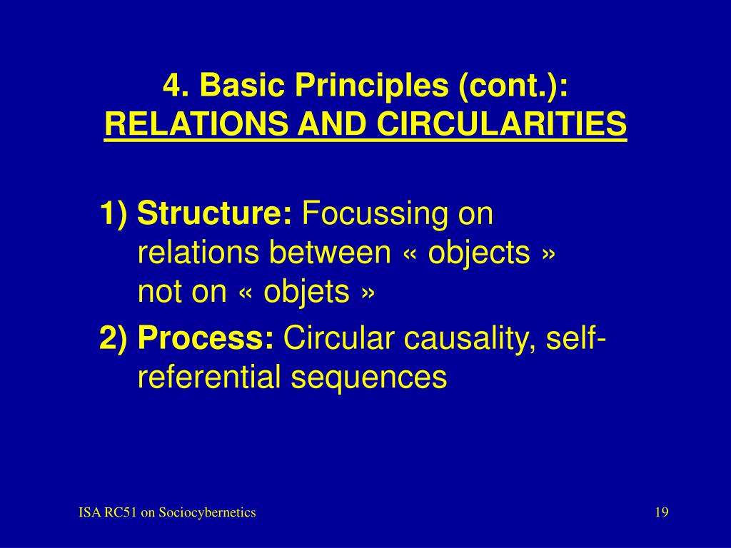 4. Basic Principles (cont.):