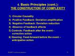 4 basic principles cont the construction of complexity