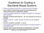 guidelines for grading in standards based systems