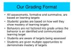 our grading format