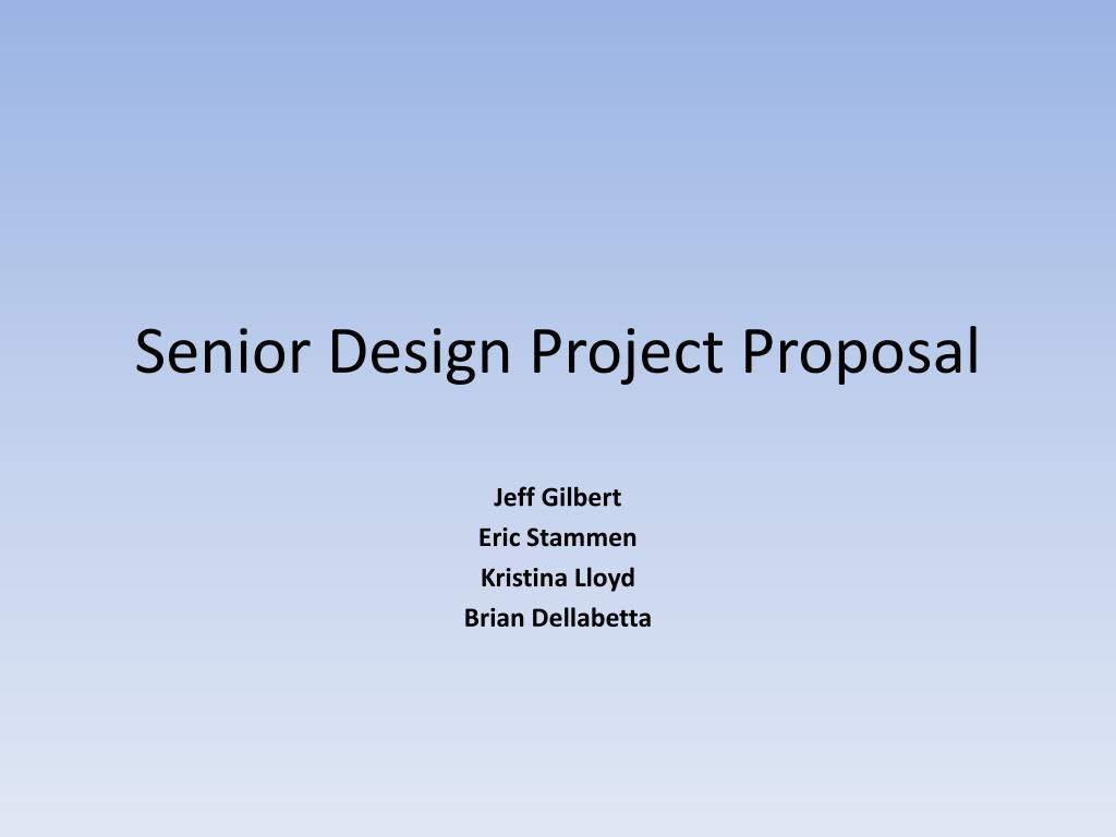 senior design project proposal l.