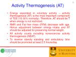 activity thermogenesis at