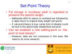 set point theory