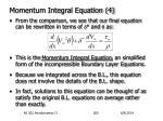 momentum integral equation 4
