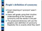 people s definition of synonymy