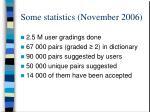 some statistics november 2006