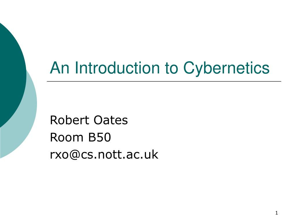 an introduction to cybernetics l.