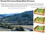 stream processes deposition terraces