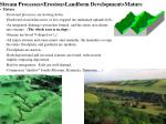 stream processes erosion landform development mature