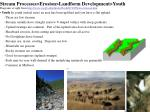 stream processes erosion landform development youth