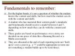 fundamentals to remember