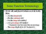 some function terminology