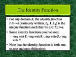 the identity function