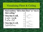 visualizing floor ceiling