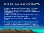 grib file visualization with gempak