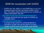 grib file visualization with grads