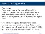 bloom s thinking prompts