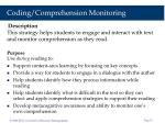 coding comprehension monitoring