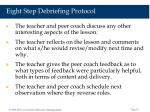 eight step debriefing protocol58