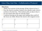 give one get one collaborative protocol