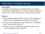 triple entry vocabulary journal