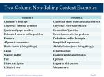 two column note taking content examples