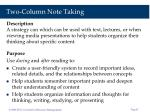 two column note taking