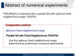 abstract of numerical experiments