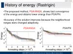 history of energy rastrigin