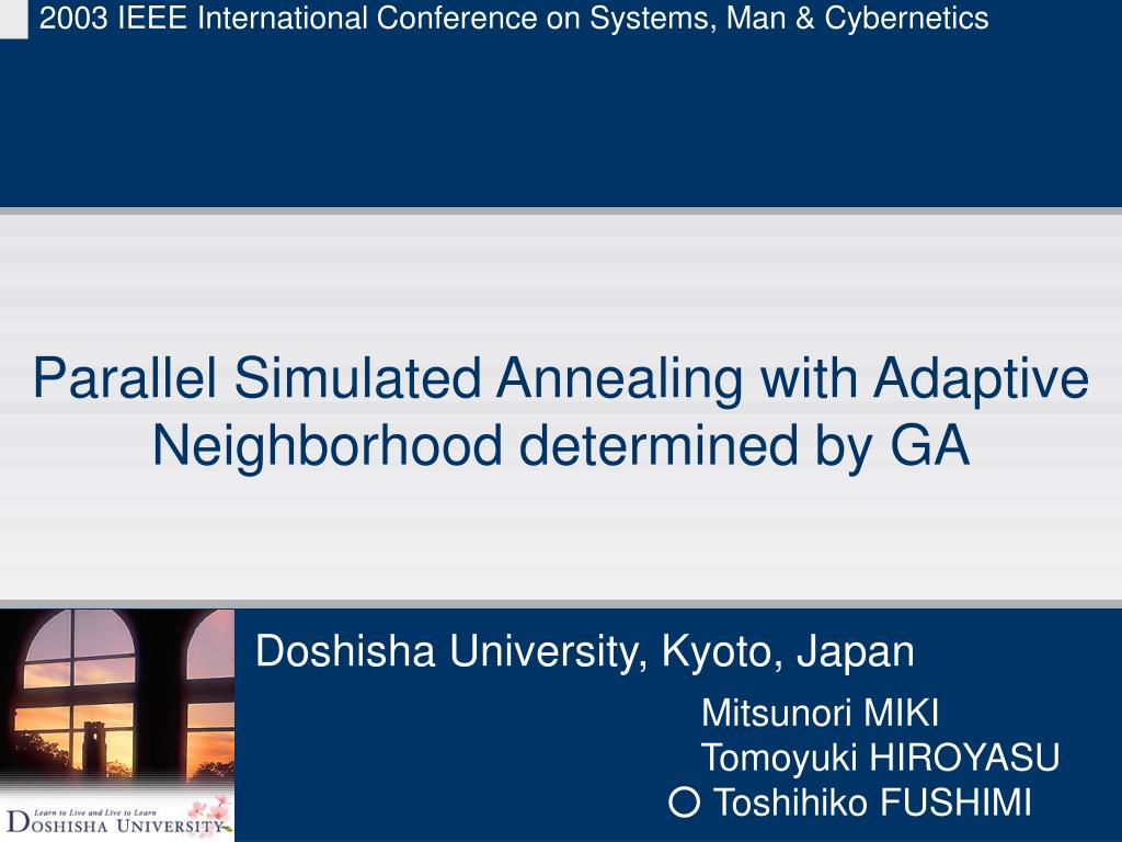 parallel simulated annealing with adaptive neighborhood determined by ga l.