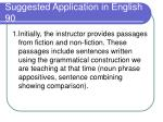 suggested application in english 90