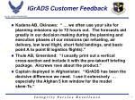 igrads customer feedback