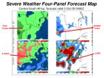 severe weather four panel forecast map central south africa forecast valid 5 oct 05 1800z
