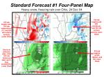 standard forecast 1 four panel map heavy snow freezing rain over ohio 24 dec 04