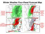 winter weather four panel forecast map heavy snow freezing rain over ohio 24 dec 04