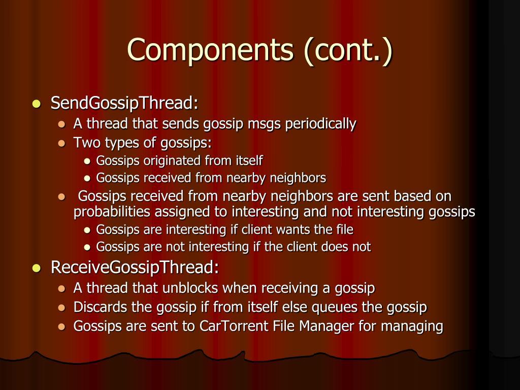 Components (cont.)