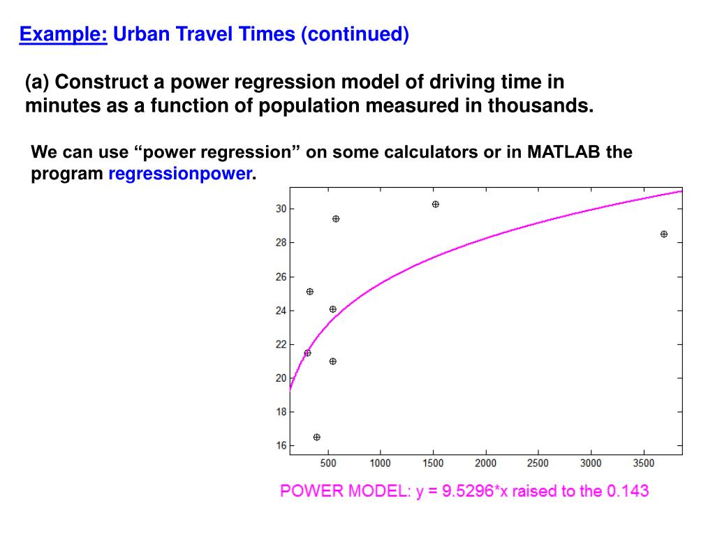 PPT - Power Function Regression PowerPoint Presentation - ID