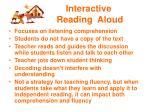 interactive reading aloud