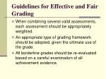 guidelines for effective and fair grading