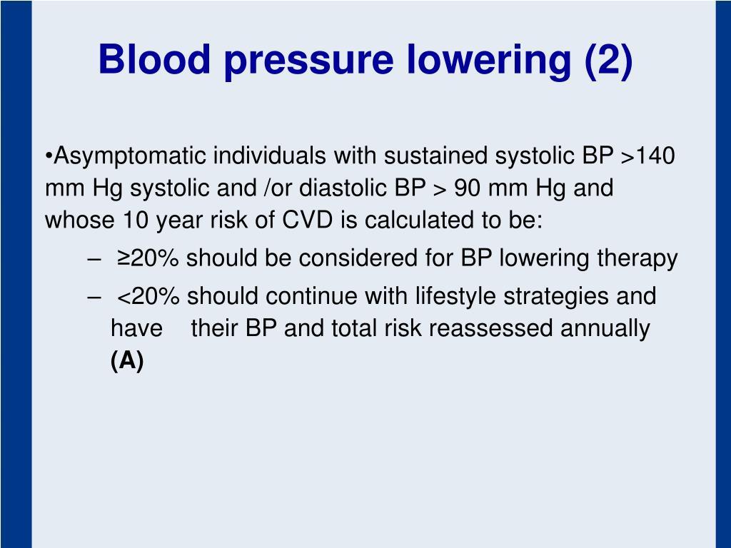 Blood pressure lowering (2)